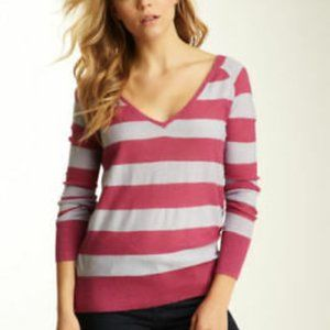 Free People Rugby Lurex Striped Pullover Sweater